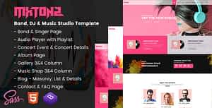 MxTonz – A Fresh Band, DJ & Music Studio Template