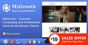 My Growth – Business Consulting and Professional Services WordPress Theme