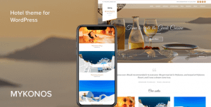 Mykonos Resort – Hotel Theme For WordPress