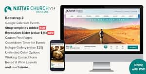 NativeChurch – Responsive HTML5 Template