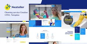 Neateller – Cleaning Services HTML Template