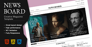 Newsboard – Creative Blog/Magazine/Publisher HTML Template