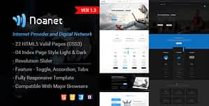 Noanet | Digital Network  and  Internet Provider  HTML Template