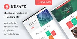 Nusafe – Charity HTML Template