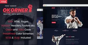 Okorner – Martial Arts Website Template