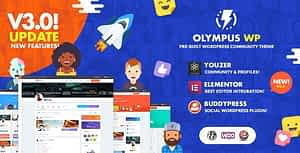 Olympus – Social Networking WordPress Theme