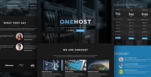 Onehost – One Page Responsive Hosting Template