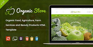 Organic Store – Agriculture and Beauty Products HTML Template