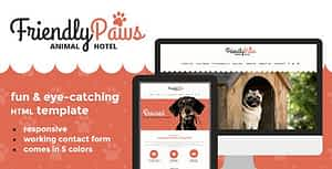 Paws – Friendly Animal Hotel HTML Template