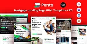 Pento – Real Estate Mortgage Landing Page Template
