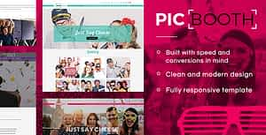 Picbooth – Complete Photobooth, Photography HTML Site Template