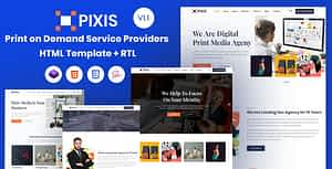 Pixis – Print on Demand Service Providers Template