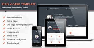 Plus Html V-card HTML Template Download