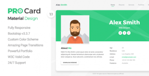 Download ProCard | vCard HTML Template