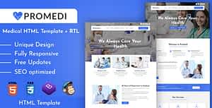 ProMedi – Medical Services and Doctors Clinic HTML Template