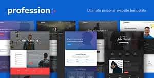 Profession – Personal Website Template