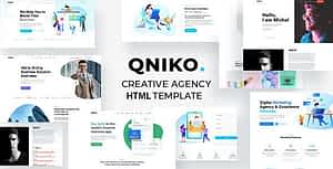 Qniko – Startup Agency HTML5 Template With RTL Support
