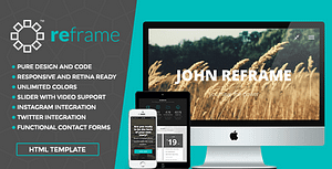 ReFrame Photo – Responsive Photography HTML Template