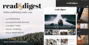 Read and Digest – Newspaper Theme