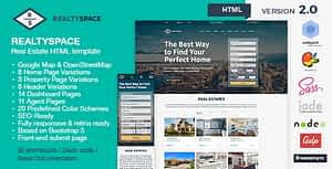 Realtyspace v2.1.2 – Real Estate HTML5 Template + Dashboard Included