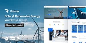 Renergy – Solar and Renewable Energy WordPress Theme