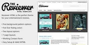Reviewer – HTML Template for Entertainment Reviews