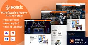 Robtic – Manufacturing Factory HTML Template