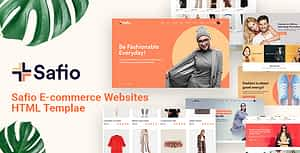 Safio – ECommerce & Online Businesses HTML5 Template