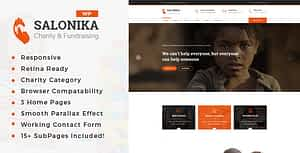 Salonika – Charity/Fundraising WordPress Theme
