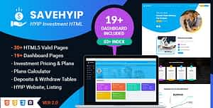 SaveHyip | HYIP Investment Business Website HTML5 Template