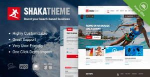 Shaka – A water sport WordPress theme