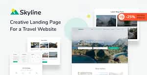 Skyline – Travel Agency HTML Landing Page Template