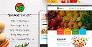 SmartFarm – Eco and Organic Gardening HTML template with Page Builder