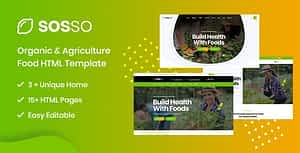 Sosso – Agriculture HTML Template