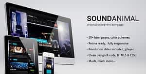 Sound Animal – Entertainment HTML Template
