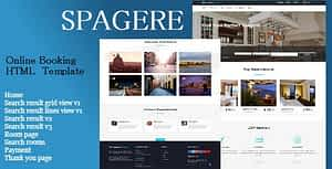 Spagere – Online Booking HTML Website Template