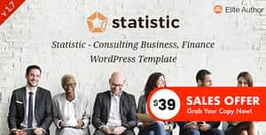 Statistic – Business Consulting and Professional Services WordPress Theme