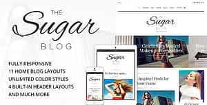Sugar – Clean & Personal WordPress Blog Theme