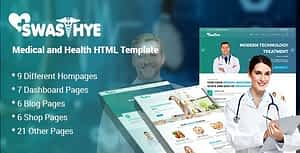 Swasthye – Multipurpose Medical and Health HTML template