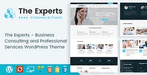 The Experts – Business Consulting and Professional Services WordPress Theme