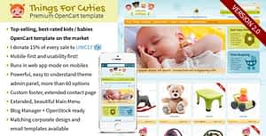ThingsforCuties – the OpenCart Baby & Kids Template