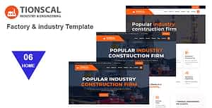 Tionscal – Factory & Industrial HTML Template