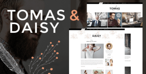 Tomas and Daisy – Personal Blog Theme