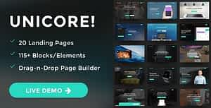 Unicore – Mobirise Builder with 20 HTML Bootstrap Landing Page Templates