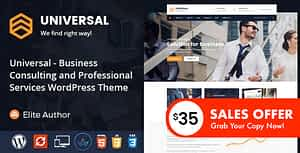 Universal – Business Consulting and Professional Services WordPress Theme