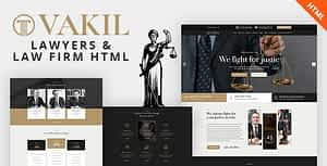VAKIL – Lawyers Attorneys and Law Firm HTML Template