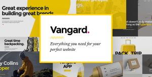 Vangard – A Theme for Freelancers and Agencies