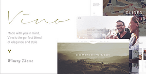 Vino – A Refined Winery, Wine Bar and Vineyard Theme