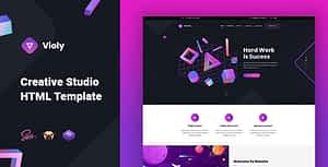 Violy – Creative Studio HTML Template