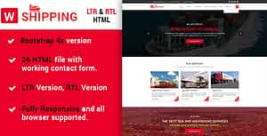 W-Shipping -The Multipurpose Shipping, Cargo and Logistics HTML5 Template